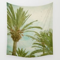 palm trees Wall Tapestries featuring Palm Trees by Cassia Beck
