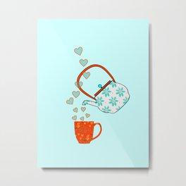 Tea Time Love Metal Print