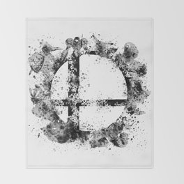 Super Smash Bros Ink Splatter Throw Blanket