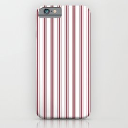 Dark Red Pear Mattress Ticking Wide Striped Pattern - Fall Fashion 2018 iPhone Case