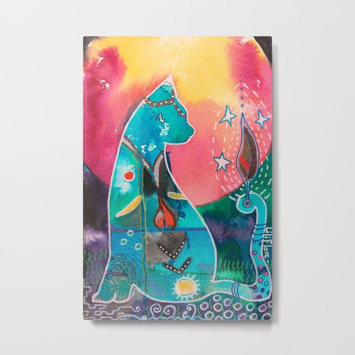 Super Cat - fantastic animal - by LiliFlore Metal Print