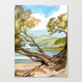 Summer At Coopers Beach Canvas Print