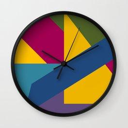 Color Block 2 Wall Clock