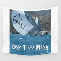 martini Wall Tapestries featuring Sailing One Too Many by Vermont Greetings