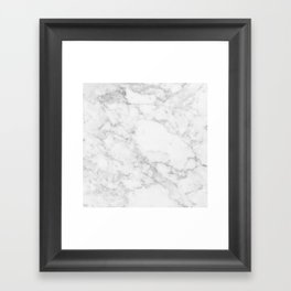 White Marble Edition 2 Framed Art Print
