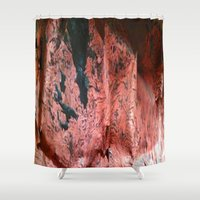 geology Shower Curtains featuring Copper Sheet by Crayle Vanest