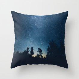 Follow the stars Throw Pillow
