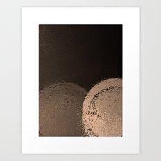 Dark Night Sepia Art Print