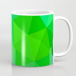 Emerald Low Poly Coffee Mug