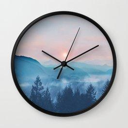 Pastel vibes 12 Wall Clock