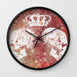 Blood Queendom (spray paint graffiti art, crown with skulls) Wall Clock