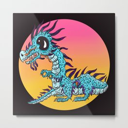Dragon In the Evening Sun Metal Print