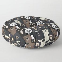 Bears of the world pattern Floor Pillow
