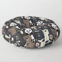 Bears of the world pattern Floor Pillow