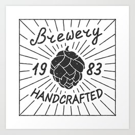 Brewery Handcrafted Fashion Modern Design Print! Beer style Art Print