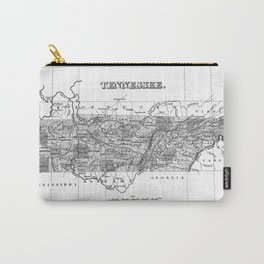 Vintage Map of Tennessee (1827) BW Carry-All Pouch