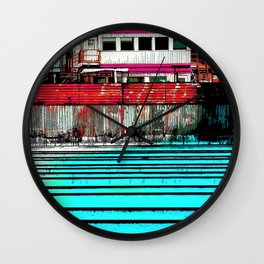 Industrial Landscape Wall Clock