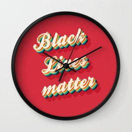 BLACK Lives Matter - Color Wall Clock