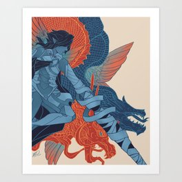 The Dragon's Claws Art Print