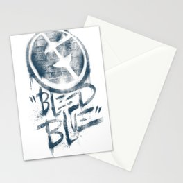 Bleed Blue Tee Stationery Cards