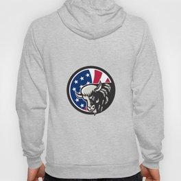 American Buffalo USA Flag Icon Hoody