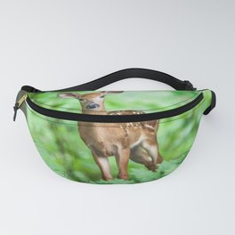 Young Deer in the Green Forest Fanny Pack