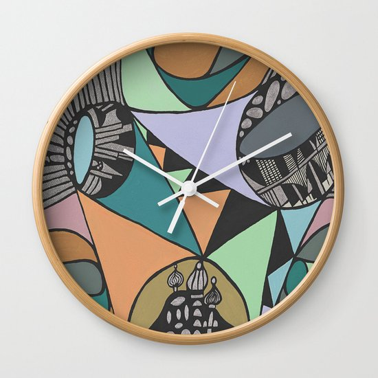 Three Districts Wall Clock