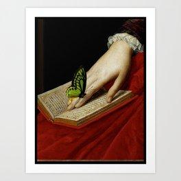 Gentle Reader Cropped Art Art Print
