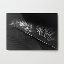 Street Graffiti in Black and White Metal Print