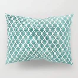 Emerald Trellis Pattern Pillow Sham