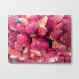 Strawberries in Paloquemao - Fresas en Paloquemao Metal Print