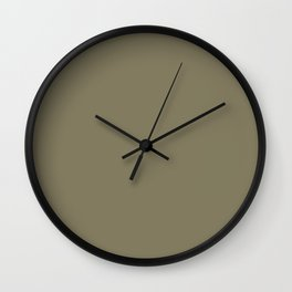 Cheap Solid Dark Army Brown Color Wall Clock