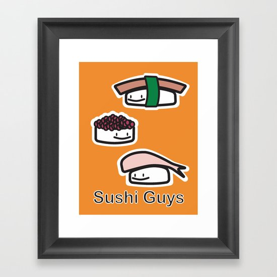 Sushi Guys Framed Art Print