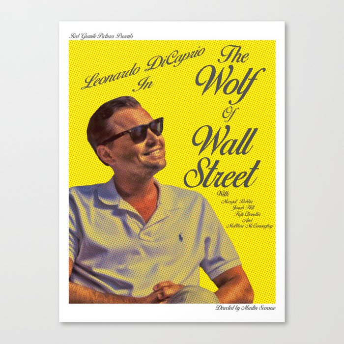 The Wolf of Wall Street Pop Art Alternative Poster Canvas Print by ...