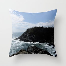 Scenic Coastal Views From the Trail Throw Pillow