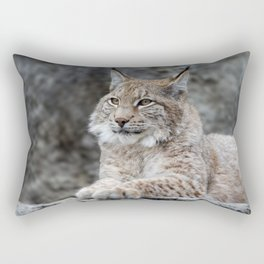 Young lynx portrait Rectangular Pillow