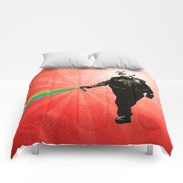 Pepper Spray Cop Rainbow - Pop Art Comforters