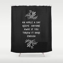 An Apple A Day BW Shower Curtain