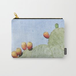 Prickly Pear Cactus with Fruits Carry-All Pouch