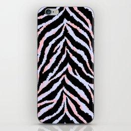Pastel zebra fur texture - peachy and blue iPhone Skin