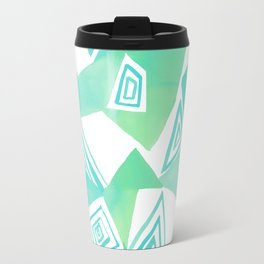 Geo Triangle Sea Green Travel Mug