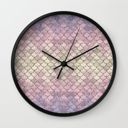 01 Mermaid Scales Wall Clock