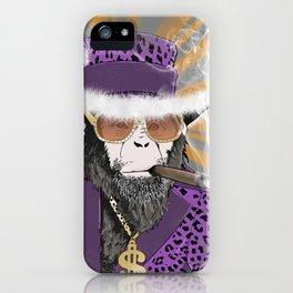 Pimp-Panzee iPhone Case