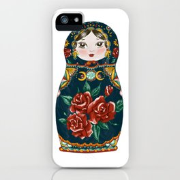 Intuition: Teal Matryoshka Doll iPhone Case