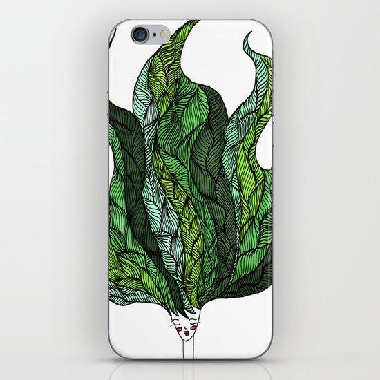 Leaf Head I iPhone & iPod Skin