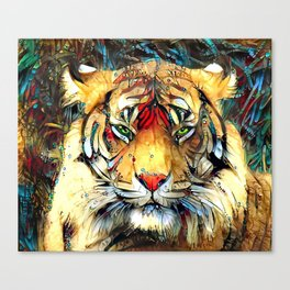 Fantazi (Tiger is Not Amused II) Canvas Print