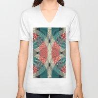 mermaids V-neck T-shirts featuring Mermaids by La Señora