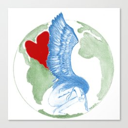 Earth Angel- Love Unearthed Canvas Print