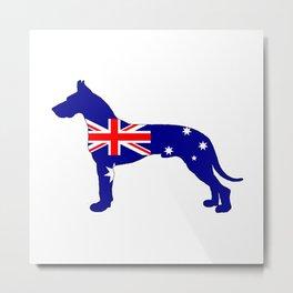 Australian Flag - Great Dane Metal Print