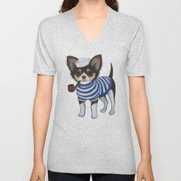 Chihuahua - Sailor Chihuahua Unisex V-Neck